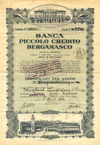 certificato credito bergamasco